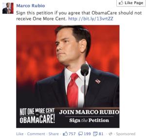 Rubio Facebook Ad