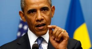 U.S. President Barack Obama speaking about Syria