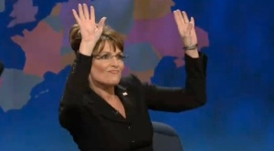 sarah palin raising the roof!