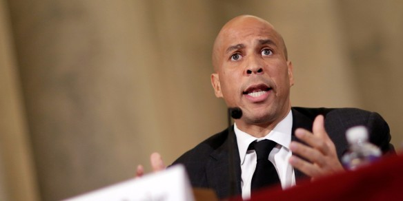 Senator Booker testifies to the Senate Judiciary Committee during the second day of confirmation hearings on Senator Sessions' nomination to be U.S. attorney general in Washington.